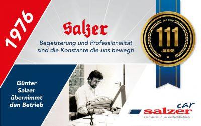 1976 Günter Salzer übernimmt den Betrieb