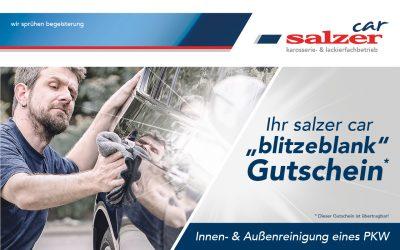 """Ihr salzer car """"blitzeblank"""" Gutschein"""